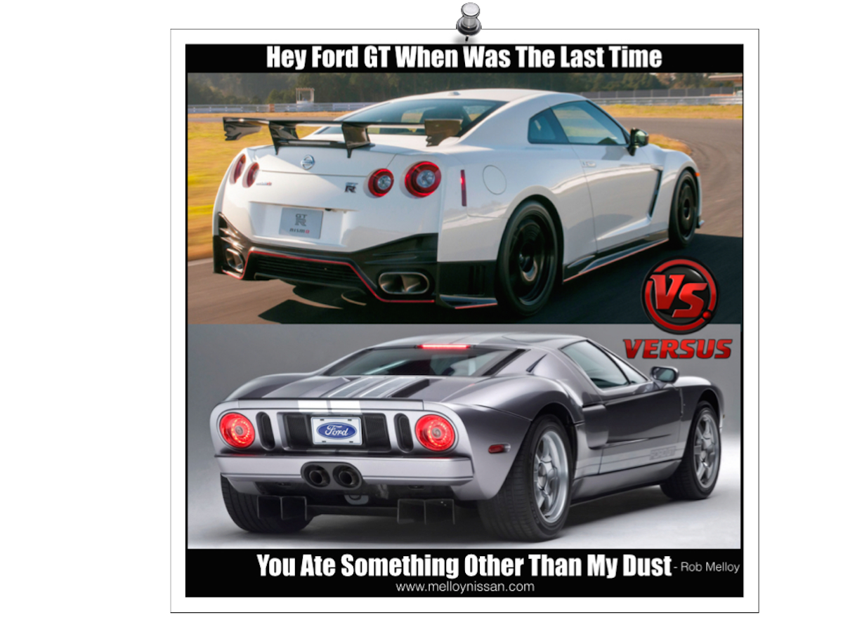 I Love The Nissan Gtr And I Love The Ford Gt But My Question To You