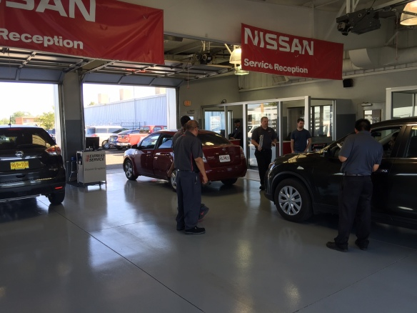 Our service drive, where customer meet and greets take place.