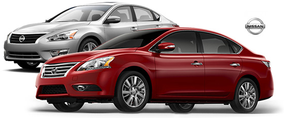 nissan-altima-sentra-dual-car-red